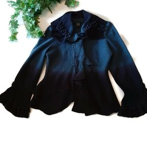 Vintage wool jacket blue ombre treatment so unu…